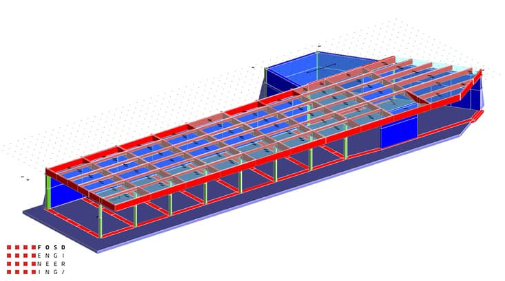 Fosd Engeneering Ingegneria Legno Calcolo Strutturale Progettazione Progetti 2011 Edificio a desitinazione commerciale in cemento armato e legno lamellare Armenia (1)