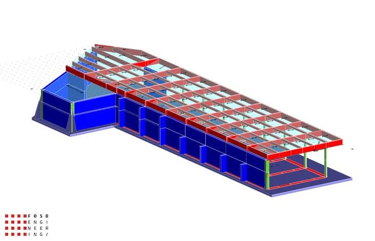 Fosd Engeneering Ingegneria Legno Calcolo Strutturale Progettazione Progetti 2011 Edificio a desitinazione commerciale in cemento armato e legno lamellare Armenia (3)