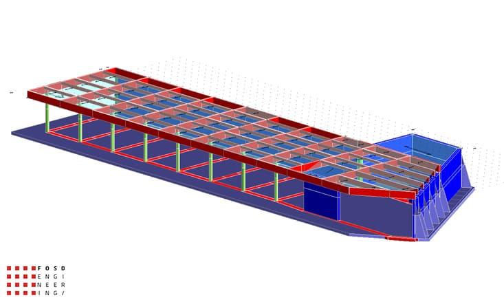 Fosd Engeneering Ingegneria Legno Calcolo Strutturale Progettazione Progetti 2011 Edificio a desitinazione commerciale in cemento armato e legno lamellare Armenia (5)