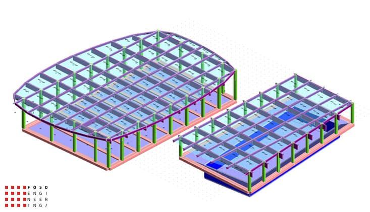 Fosd Engeneering Ingegneria Legno Calcolo Strutturale Progettazione Progetti 2011 Edificio a destinazione sportiva Armenia (3)