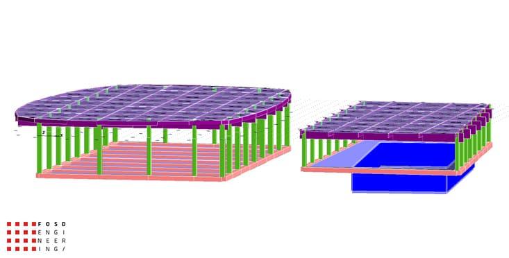 Fosd Engeneering Ingegneria Legno Calcolo Strutturale Progettazione Progetti 2011 Edificio a destinazione sportiva Armenia (5)