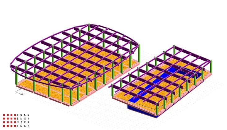 Fosd Engeneering Ingegneria Legno Calcolo Strutturale Progettazione Progetti 2011 Edificio a destinazione sportiva Armenia (7)