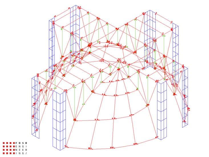 Fosd Engeneering Ingegneria Legno Calcolo Strutturale Progettazione Progetti 2012 Edificio di culto Sassuolo (17)