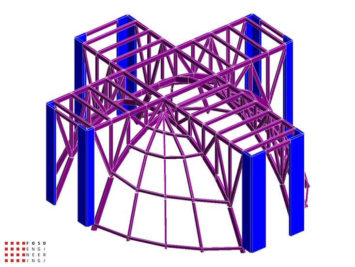 Fosd Engeneering Ingegneria Legno Calcolo Strutturale Progettazione Progetti 2012 Edificio di culto Sassuolo (2)
