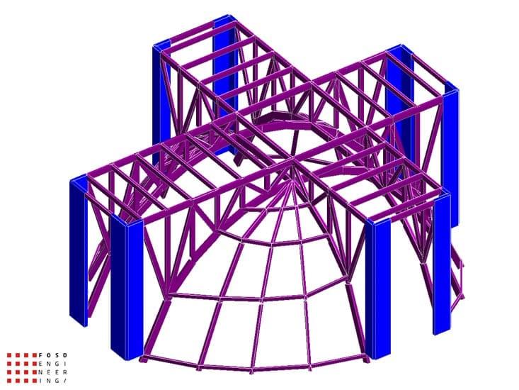 Fosd Engeneering Ingegneria Legno Calcolo Strutturale Progettazione Progetti 2012 Edificio di culto Sassuolo (4)