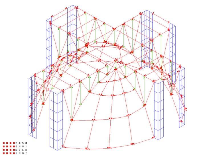 Fosd Engeneering Ingegneria Legno Calcolo Strutturale Progettazione Progetti 2012 Edificio di culto Sassuolo (7)