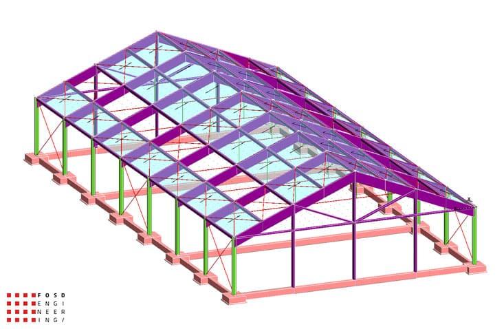 Fosd Engeneering Ingegneria Legno Calcolo Strutturale Progettazione Progetti 2012 Strutture Maneggio Parma(3)
