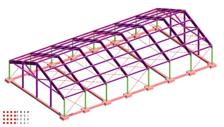 Fosd Engeneering Ingegneria Legno Calcolo Strutturale Progettazione Progetti 2012 Strutture Maneggio Parma(7)