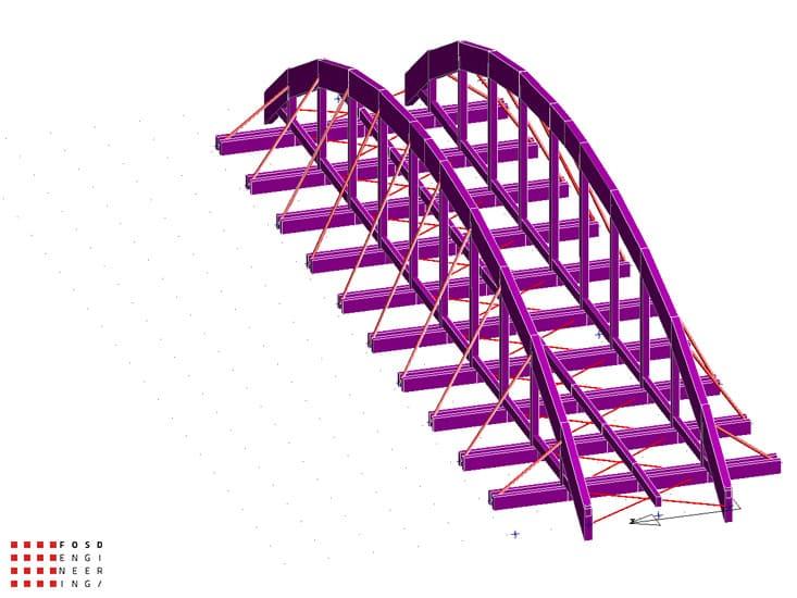 Fosd Engeneering Ingegneria Legno Calcolo Strutturale Progettazione Progetti 2012 Studio di fattibilità passerella pedonale (10)