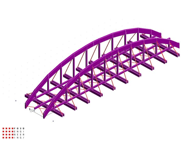 Fosd Engeneering Ingegneria Legno Calcolo Strutturale Progettazione Progetti 2012 Studio di fattibilità passerella pedonale (8)