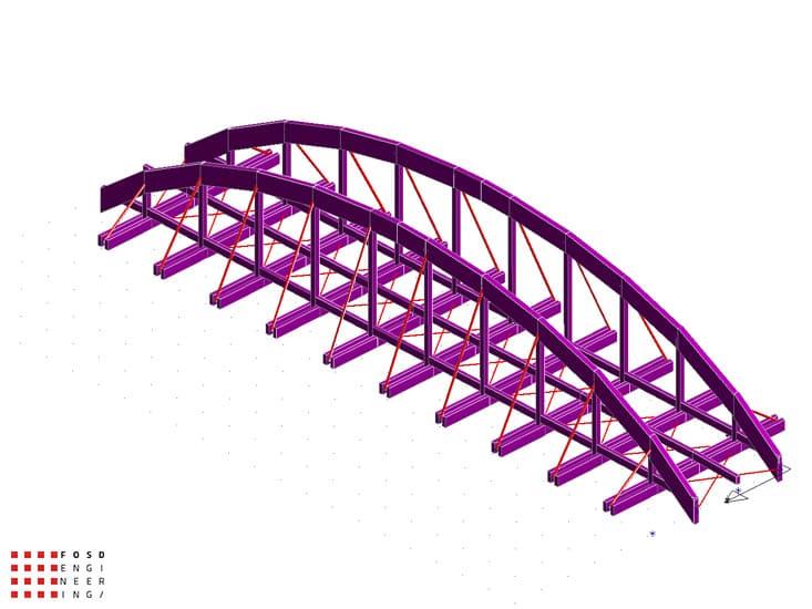 Fosd Engeneering Ingegneria Legno Calcolo Strutturale Progettazione Progetti 2012 Studio di fattibilità passerella pedonale (9)