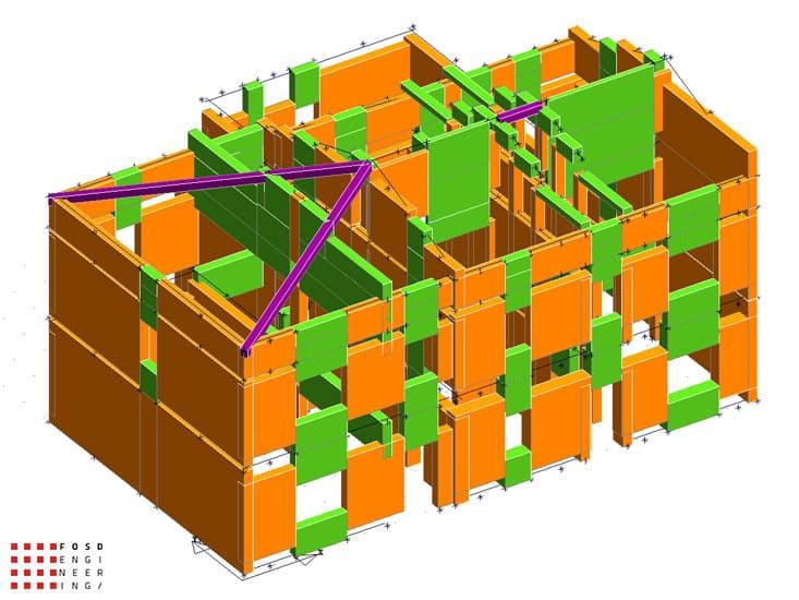 Fosd Engeneering Ingegneria Legno Calcolo Strutturale Progettazione Progetti 2012 Studio di vulnerabilità sismica Fano (7)