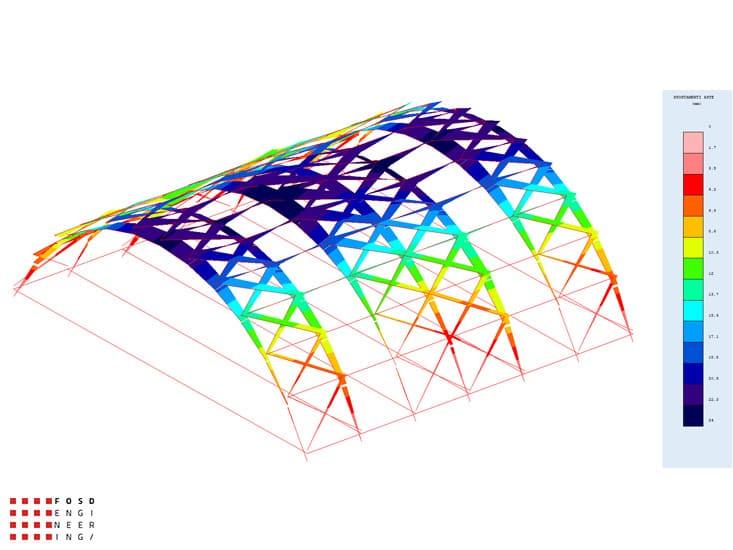 Fosd Engeneering Ingegneria Legno Calcolo Strutturale Progettazione Progetti 2013 Centro sportivo tennis (12)