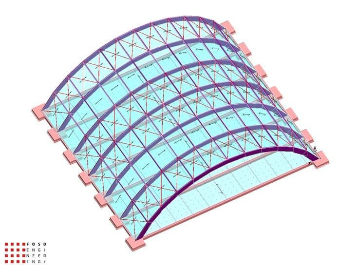 Fosd Engeneering Ingegneria Legno Calcolo Strutturale Progettazione Progetti 2013 Centro sportivo tennis (2)