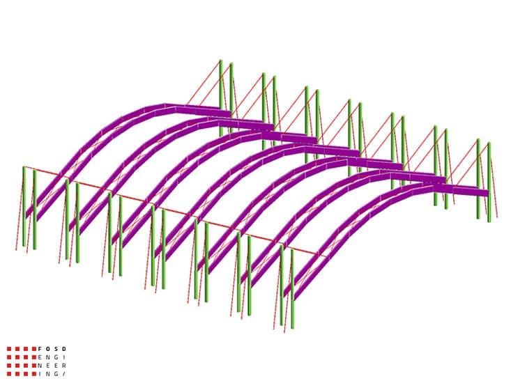 Fosd Engeneering Ingegneria Legno Calcolo Strutturale Progettazione Progetti 2013 Realizzazione Palaghiaccio (1)