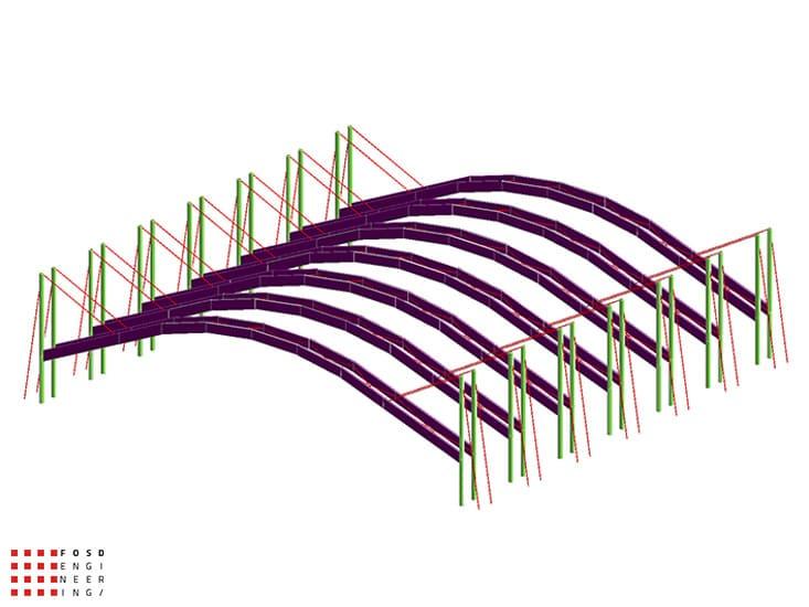 Fosd Engeneering Ingegneria Legno Calcolo Strutturale Progettazione Progetti 2013 Realizzazione Palaghiaccio (2)