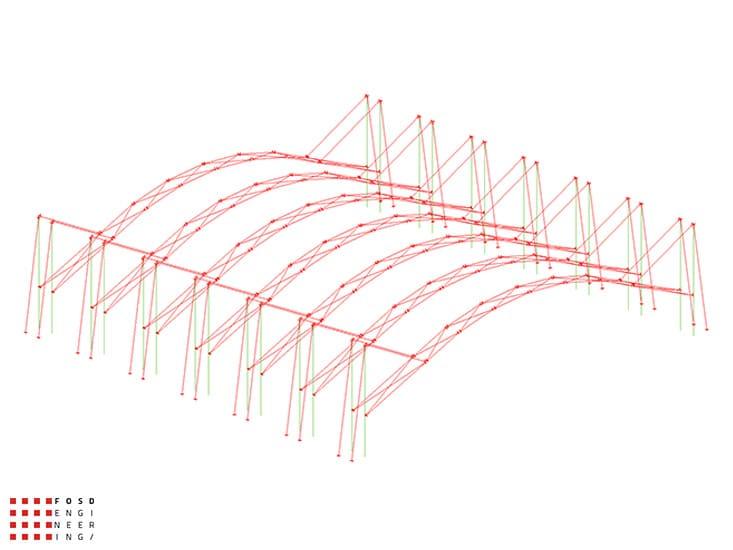 Fosd Engeneering Ingegneria Legno Calcolo Strutturale Progettazione Progetti 2013 Realizzazione Palaghiaccio (5)