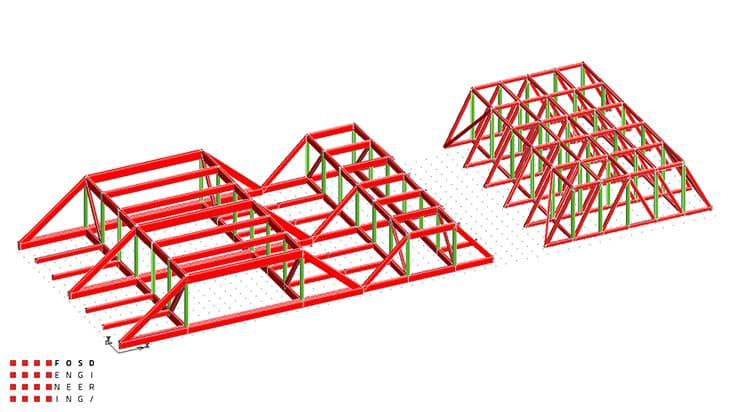 Fosd Engeneering Ingegneria Legno Calcolo Strutturale Progettazione Progetti 2013 Struttura reticolare di copertura Genova (11)