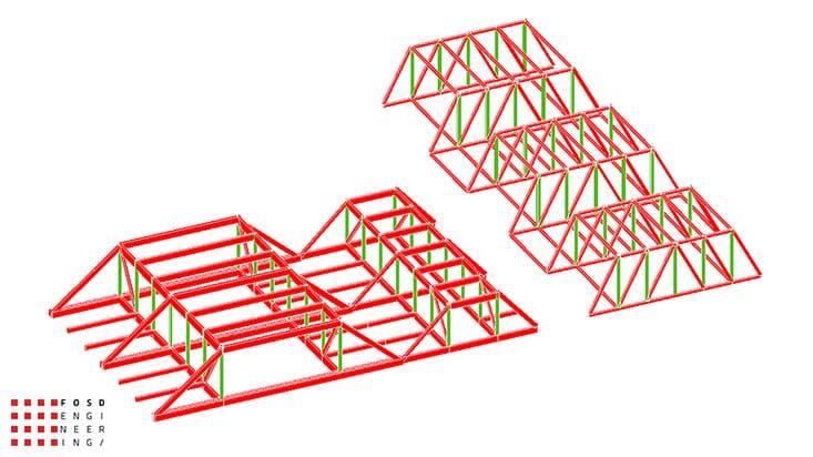 Fosd Engeneering Ingegneria Legno Calcolo Strutturale Progettazione Progetti 2013 Struttura reticolare di copertura Genova (5)