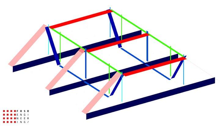 Fosd Engeneering Ingegneria Legno Calcolo Strutturale Progettazione Progetti 2013 Struttura reticolare di copertura Genova (8)