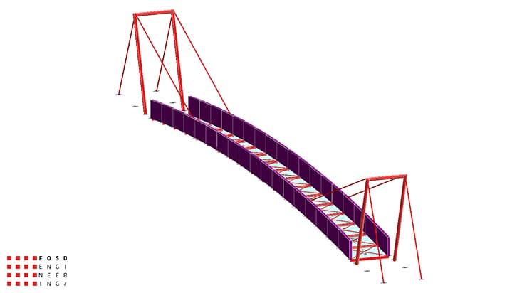 Fosd Engeneering Ingegneria Legno Calcolo Strutturale Progettazione Progetti 2013 Studio fattibilità passerella pedonale (2)