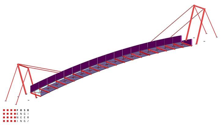 Fosd Engeneering Ingegneria Legno Calcolo Strutturale Progettazione Progetti 2013 Studio fattibilità passerella pedonale (3)