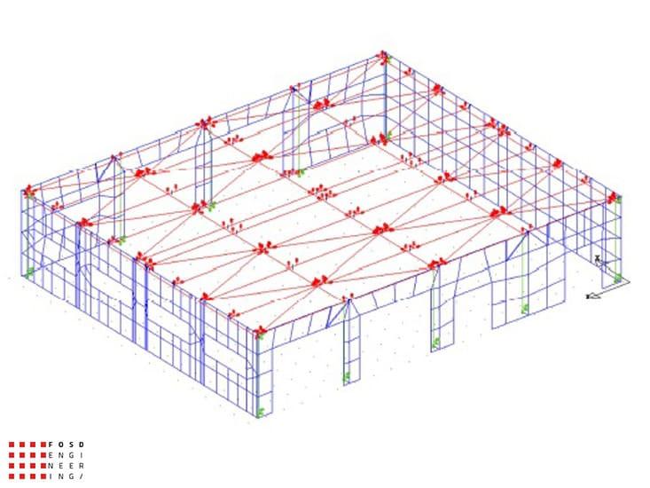 Fosd Engeneering Ingegneria Legno Calcolo Strutturale Progettazione Progetti 2014 Capannone San Mauro Pascoli (12)