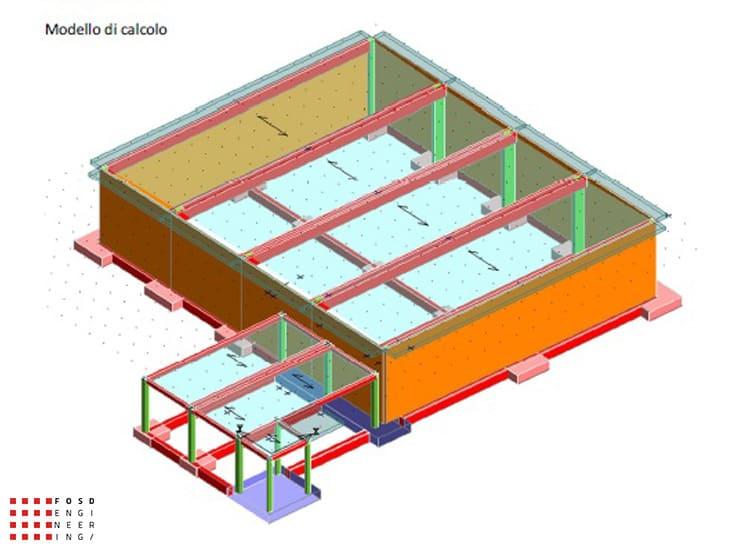 Fosd Engeneering Ingegneria Legno Calcolo Strutturale Progettazione Progetti 2014 Capannone San Mauro Pascoli (13)