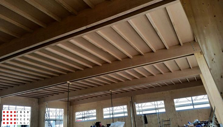 fosd engeneering ingegneria legno calcolo strutturale progettazione progetti 2014 edificio industriale microlamellare rimini 1
