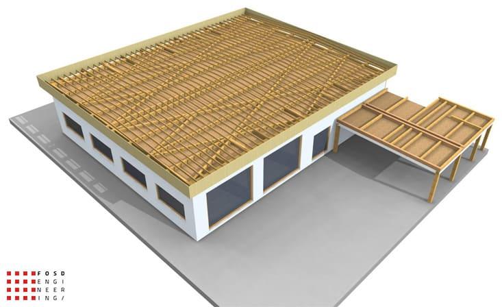 fosd engeneering ingegneria legno calcolo strutturale progettazione progetti 2014 edificio industriale microlamellare rimini 14