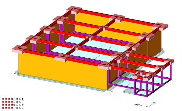 fosd engeneering ingegneria legno calcolo strutturale progettazione progetti 2014 edificio industriale microlamellare rimini 2