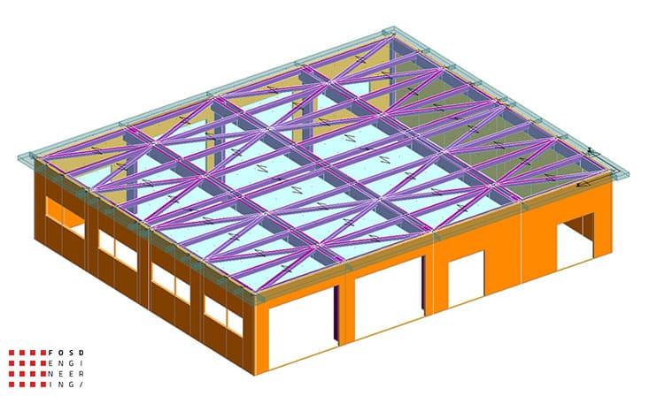 fosd engeneering ingegneria legno calcolo strutturale progettazione progetti 2014 edificio industriale microlamellare rimini 4