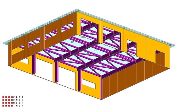 fosd engeneering ingegneria legno calcolo strutturale progettazione progetti 2014 edificio industriale microlamellare rimini 5