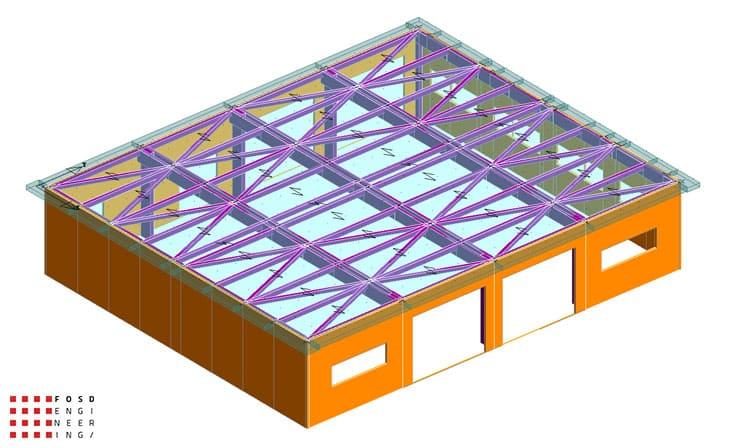 fosd engeneering ingegneria legno calcolo strutturale progettazione progetti 2014 edificio industriale microlamellare rimini 8