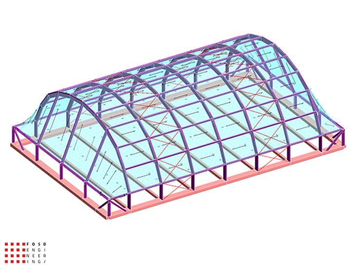 Fosd Engeneering Ingegneria Legno Calcolo Strutturale Progettazione Progetti 2014 Centro sportivo tennis (1)