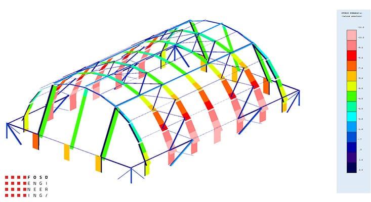 Fosd Engeneering Ingegneria Legno Calcolo Strutturale Progettazione Progetti 2014 Centro sportivo tennis (10)