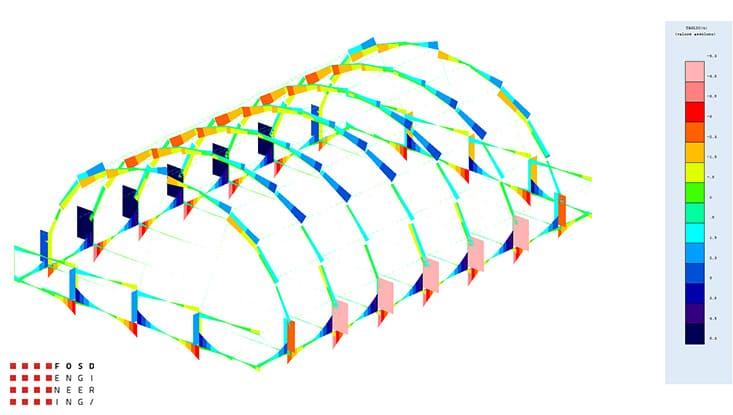 Fosd Engeneering Ingegneria Legno Calcolo Strutturale Progettazione Progetti 2014 Centro sportivo tennis (11)