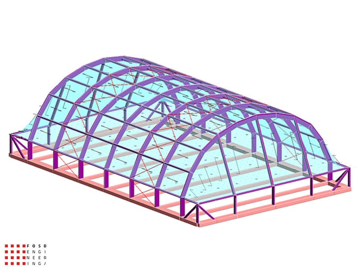 Fosd Engeneering Ingegneria Legno Calcolo Strutturale Progettazione Progetti 2014 Centro sportivo tennis (2)