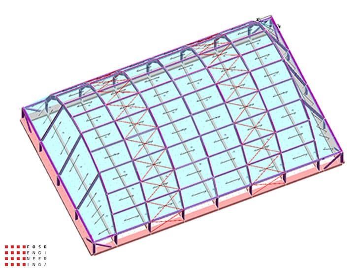 Fosd Engeneering Ingegneria Legno Calcolo Strutturale Progettazione Progetti 2014 Centro sportivo tennis (3)