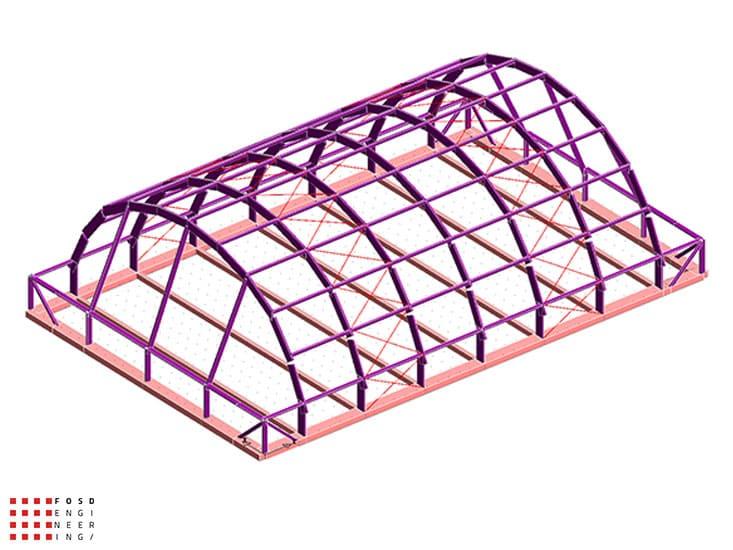 Fosd Engeneering Ingegneria Legno Calcolo Strutturale Progettazione Progetti 2014 Centro sportivo tennis (4)