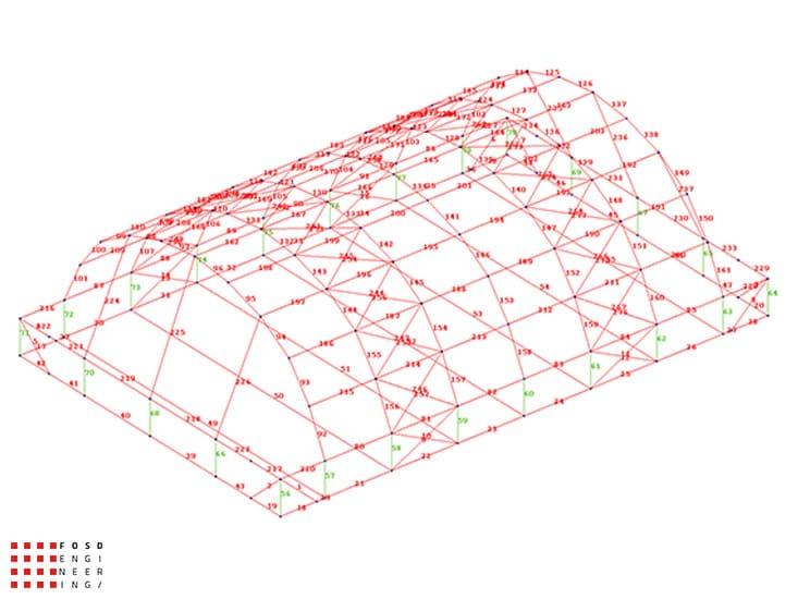 Fosd Engeneering Ingegneria Legno Calcolo Strutturale Progettazione Progetti 2014 Centro sportivo tennis (5)