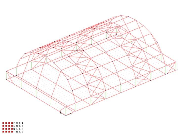 Fosd Engeneering Ingegneria Legno Calcolo Strutturale Progettazione Progetti 2014 Centro sportivo tennis (6)