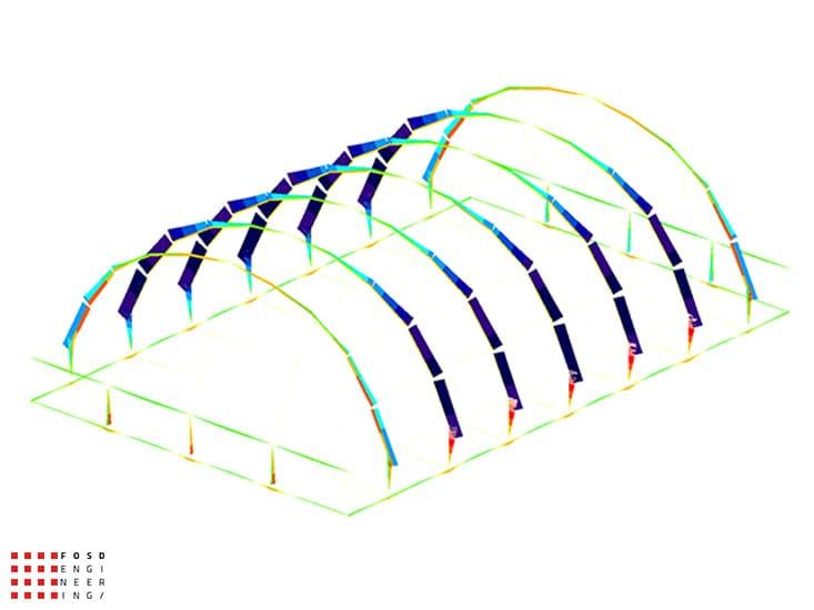 Fosd Engeneering Ingegneria Legno Calcolo Strutturale Progettazione Progetti 2014 Centro sportivo tennis (7)