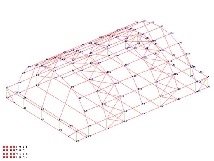 Fosd Engeneering Ingegneria Legno Calcolo Strutturale Progettazione Progetti 2014 Centro sportivo tennis (8)