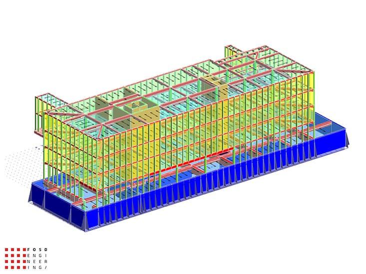 Fosd Engeneering Ingegneria Legno Calcolo Strutturale Progettazione Progetti 2014 Edificio direzionale Torino(1)