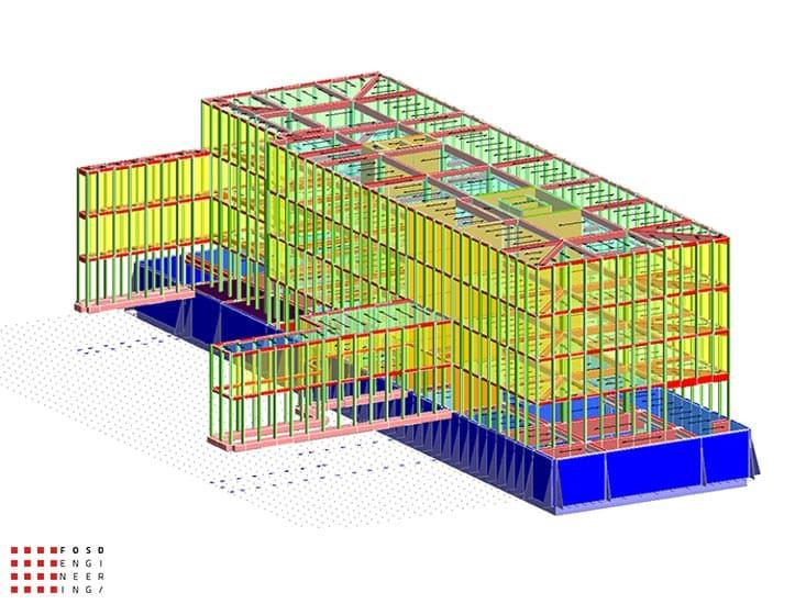 Fosd Engeneering Ingegneria Legno Calcolo Strutturale Progettazione Progetti 2014 Edificio direzionale Torino(2)