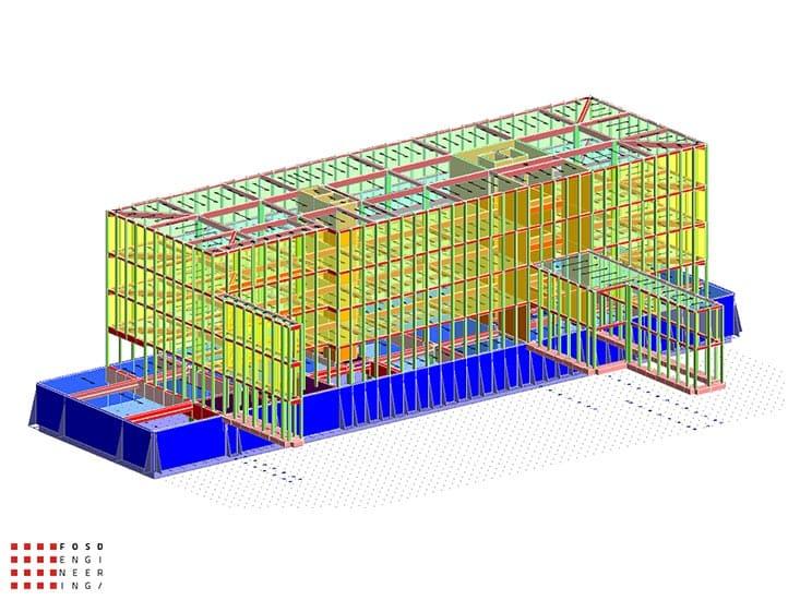 Fosd Engeneering Ingegneria Legno Calcolo Strutturale Progettazione Progetti 2014 Edificio direzionale Torino(3)