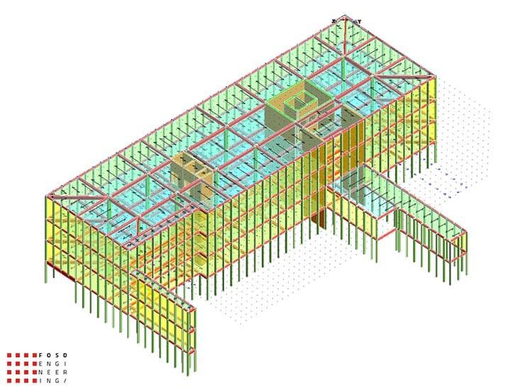 Fosd Engeneering Ingegneria Legno Calcolo Strutturale Progettazione Progetti 2014 Edificio direzionale Torino(4)