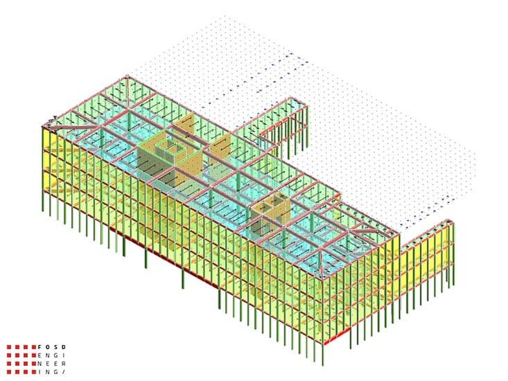 Fosd Engeneering Ingegneria Legno Calcolo Strutturale Progettazione Progetti 2014 Edificio direzionale Torino(5)