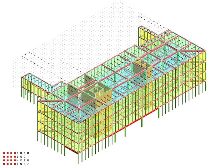 Fosd Engeneering Ingegneria Legno Calcolo Strutturale Progettazione Progetti 2014 Edificio direzionale Torino(6)